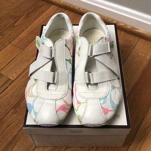 RARE Coach Kyrie Velcro White Signature C Sneakers